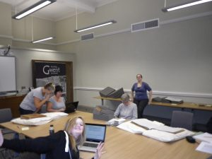 One of our work days at the Archives. Some great work taking place